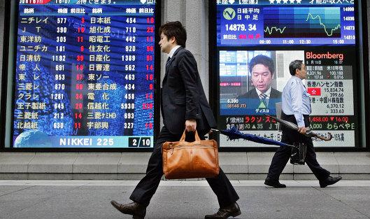 Табло Токийской фондовой биржи