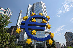 Здание Европейского центрального банка (ЕЦБ) во Франкфурте, Германия