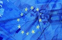 Флаг и деньги Евросоюза