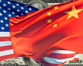 """"""" Флаги США и Китая"""