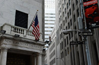 Здание Нью-йоркской фондовой биржи на Уолл-стрит