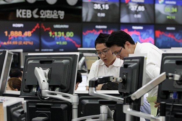 Корейская фондовая биржа в Сеуле
