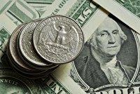 Монеты различного номинала и банкноты доллара США